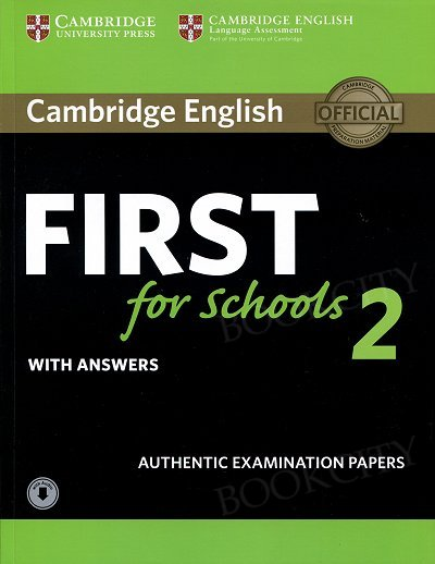 Cambridge English First for Schools 2 FCE (2016) Self Study Pack (Student's Book with answers + Audio)