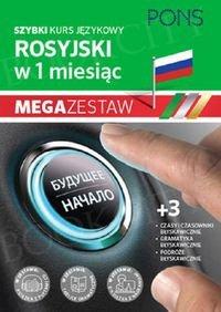 Szybki kurs Rosyjski w 1 miesiąc Mega Zestaw: Kurs + tablice: czasy i czasowniki, gramatyka, podróże