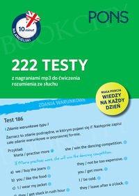 10 minut na angielski PONS 222 testy z nagraniami mp3 do ćwiczenia rozumienia ze słuchu
