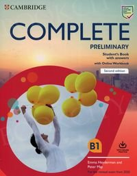 Complete Preliminary (2nd edition) Student's Book with Answers with Online Workbook