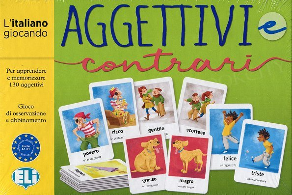 Aggettivi e contrari Gra językowa z instrukcją w języku włoskim i polskim