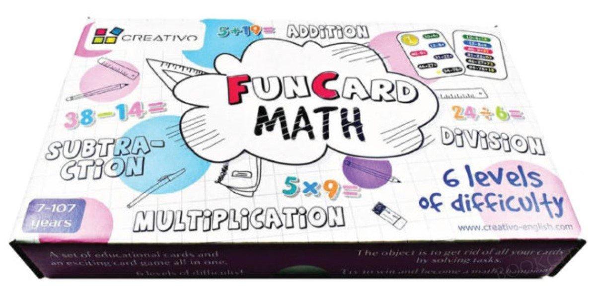 Fun Card Math dodawanie, odejmowanie, mnożenie, dzielenie