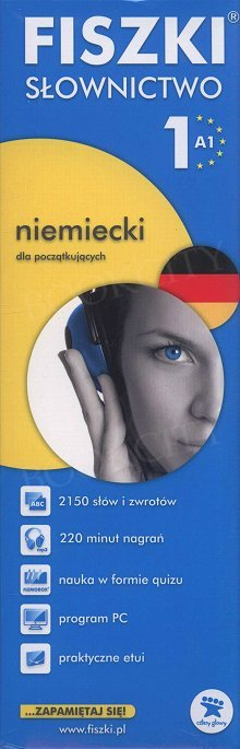 Fiszki Niemieckie PREMIUM. Słownictwo 1 Fiszki + program + mp3 online