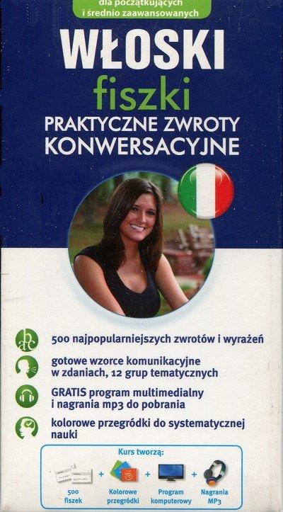 Włoski fiszki Praktyczne zwroty konwersacyjne (II wydanie) 500 fiszek + program i nagrania do pobrania