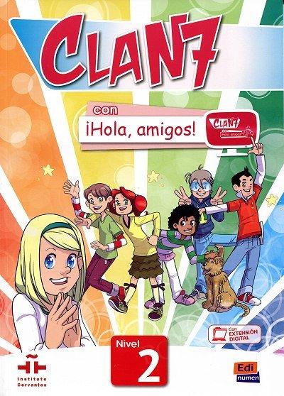 CLAN 7 con ¡Hola, amigos! Nivel 2 podręcznik