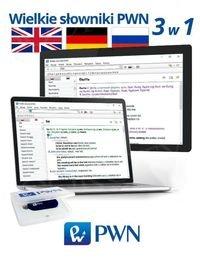 Wielki multimedialny słownik PWN 3w1 angielski niemiecki rosyjski Pendrive