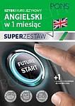 Szybki kurs Angielski w 1 miesiąc Super Zestaw: Kurs + tablica czasy i czasowniki
