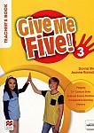 Give Me Five! 3 Książka nauczyciela + kod do NAVIO