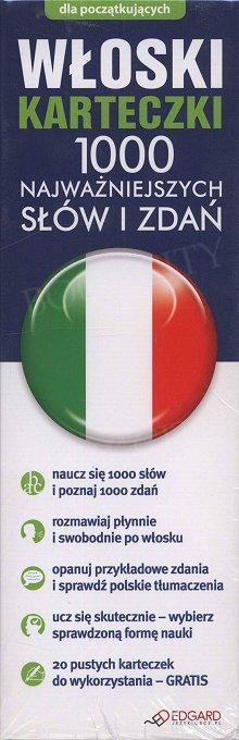 Włoski karteczki. 1000 najważniejszych słów i zdań.