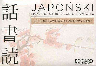 Japoński Fiszki Pisz i czytaj 200 podstawowych znaków kanji Fiszki + książka
