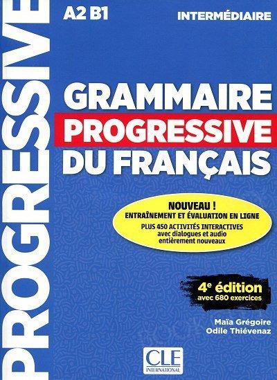 Grammaire progressive niveau intermediaire 4ème édition A2 B1 Podręcznik + CD