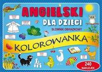 Angielski dla dzieci Słownik obrazkowy Kolorowanka
