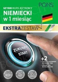 Szybki kurs Niemiecki w 1 miesiąc Ekstra Zestaw: Kurs + tablice: czasy i czasowniki, gramatyka