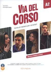 Via del Corso A2 Podręcznik + ćwiczenia + CD + DVD