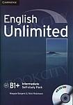 English Unlimited B1+ Intermediate Self-study Pack (Workbook with DVD-ROM)