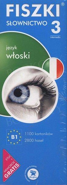 Fiszki Włoskie. Słownictwo 3 Fiszki + program + mp3 online