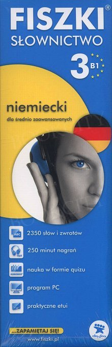 Fiszki Niemieckie PREMIUM. Słownictwo 3 Fiszki + program + mp3 online