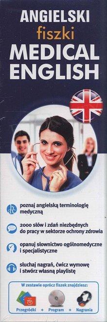 Angielskie Fiszki Medical English 1000 fiszek + program + nagrania