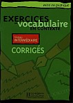 Exercices de vocabulaire en contexte débutant Klucz