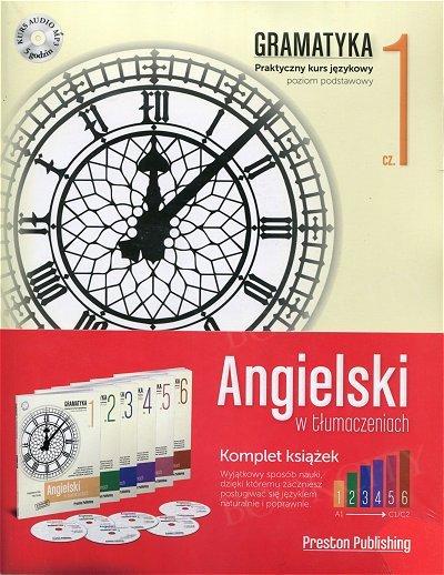 Angielski w tłumaczeniach. Gramatyka 1-6 Komplet 6 x Książka+CD