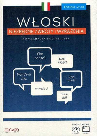 Włoski Niezbędne zwroty i wyrażenia Książka + CD
