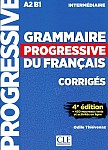 Grammaire progressive niveau intermediaire 4ème édition A2 B1 Klucz