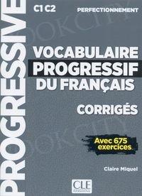Vocabulaire progressif du français Niveau Perfectionnement Klucz