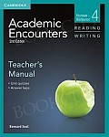 Academic Encounters 2nd edition Reading Teacher's Manual