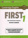 Cambridge English First 1 FCE (2015) Student's Book without Answers