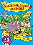 Dzikie zwierzęta Obrazkowy słownik angielski z naklejkami
