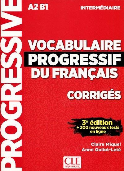 Vocabulaire progressif du Francais 3e édition Intermédiaire Klucz