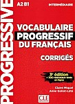Vocabulaire progressif du Francais 3e edition Intermediaire Klucz