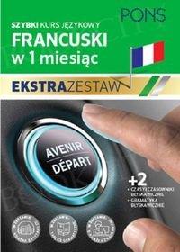 Szybki kurs Francuski w 1 miesiąc Ekstra Zestaw: Kurs + tablice: czasy i czasowniki, gramatyka