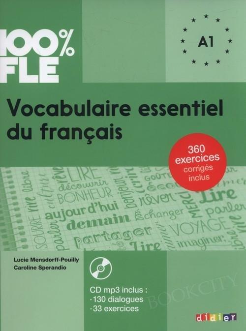 100% FLE Vocabulaire essentiel du français A1 Książka + CD mp3