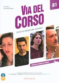 Via del Corso B1 Podręcznik + ćwiczenia + CD + DVD