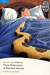 Three Adventures of Sherlock Holmes Book plus mp3