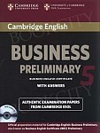 Cambridge English Business 5 Preliminary Self-study Pack (SB with ans and Audio CD)