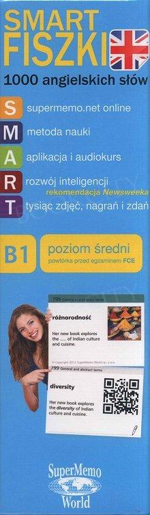 1000 angielskich słów - poziom średni B1 Fiszki + kod dostępu