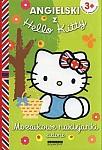 Angielski z Hello Kitty. Mozaikowe naklejanki zielone