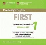 Cambridge English First 1 FCE (2015) Audio CDs (2)