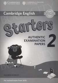 Cambridge English Starters 2 (2018) Answer Booklet