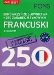 250 ćwiczeń ze słownictwa Francuski + 250 zagadek