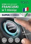 Szybki kurs Francuski w 1 miesiąc Super Zestaw: Kurs + tablica czasy i czasowniki