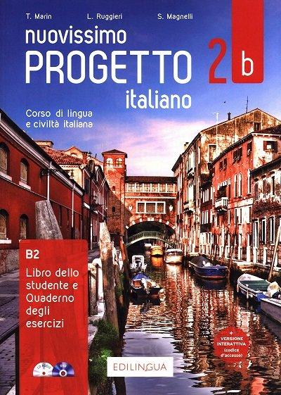 Nuovissimo Progetto italiano 2B Podręcznik + ćwiczenia + CD + DVD