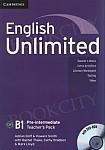 English Unlimited B1 Pre-intermediate książka nauczyciela