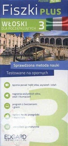 Włoski Fiszki PLUS dla początkujących 3 Fiszki + program + mp3 online