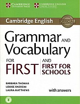 Grammar and Vocabulary for First and First for Schools Book with Answers & Audio Download