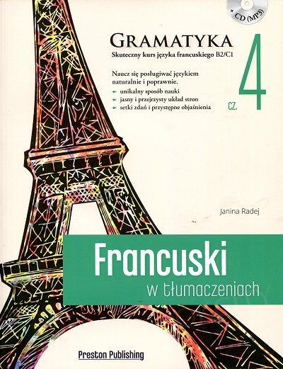 Francuski w tłumaczeniach. Gramatyka 4 Książka + CD mp3