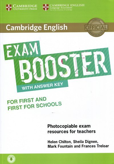 Cambridge English Exam Booster for First and First for Schools Book with Answer Key with Audio