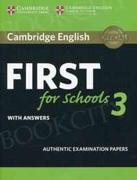 Cambridge English First for Schools 3 FCE (2018) Student's Book with answers